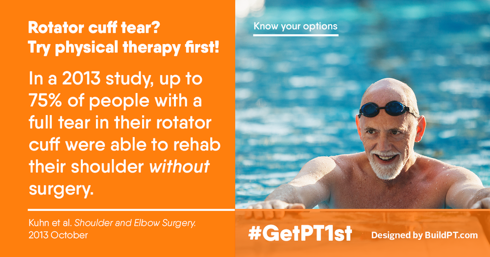 Avoid Shoulder Surgery with Physical Therapy.