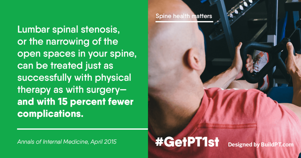 Physical Therapy for Spinal Stenosis.