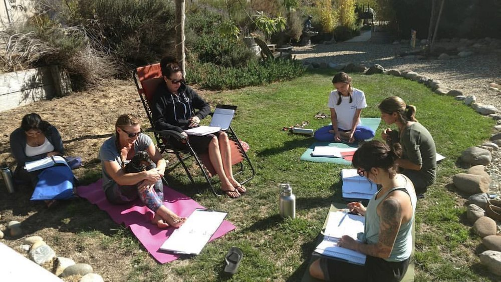 Enjoy our beautiful, outdoor garden for lectures and break time.