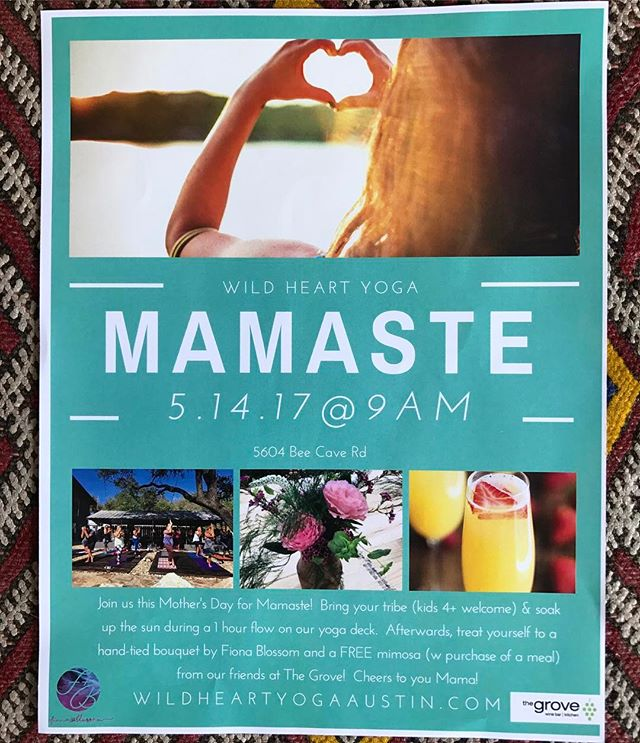 This is the next stop! Give your Mom the gift of yoga and something from the shop. The flowers will be poppin! Grab and go or build your own. You seriously can't go wrong with this if you wanna chill with your Ma on such a special day.  #mamaste #yoga #mom #flowers #giftshop #smallbiz #texas #mothersday #soexcited