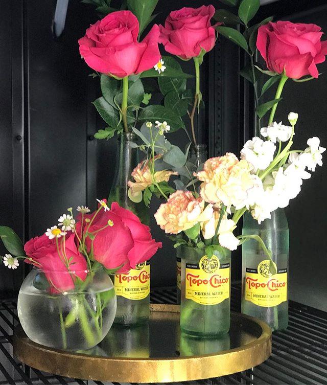 Quick and cute. #flowerfridge