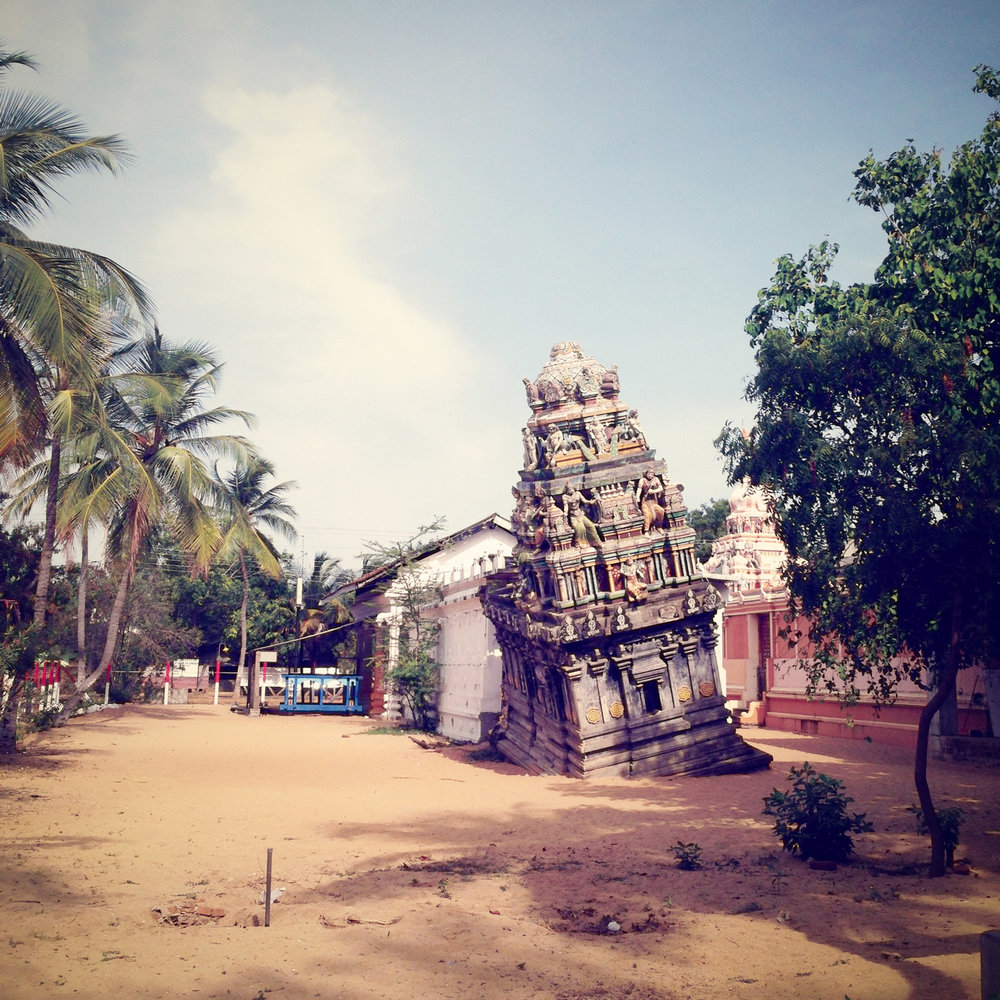 This Hindu temple damaged by the tsunami, a tragic reminder.