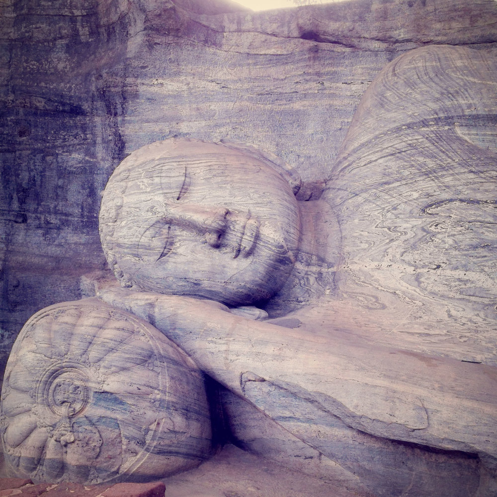 Sleeping Buddha...it's hard to explain how huge these statues are.