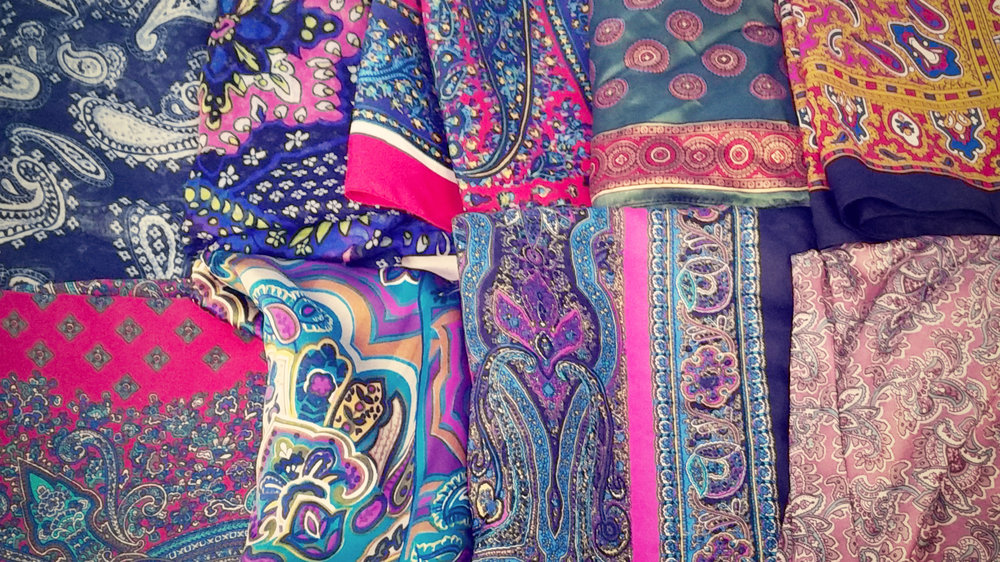 Vintage Paisley Scarves
