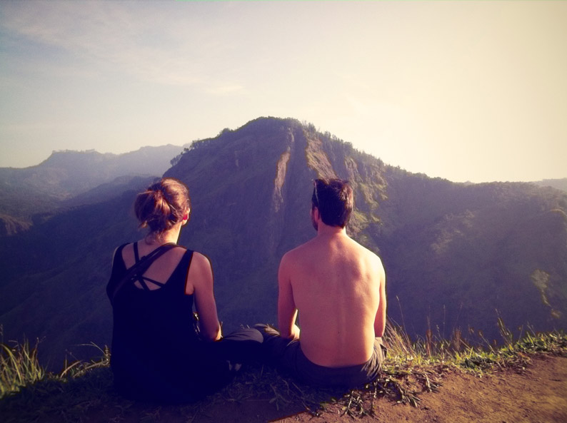 The view from Little Adams Peak to Ella Rock