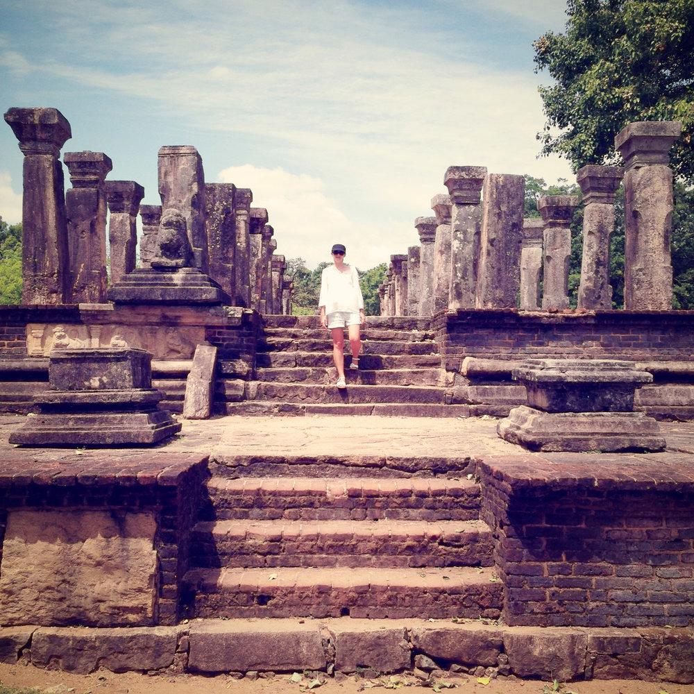 Feeling a bit Lara Croft in Polonnaruwa