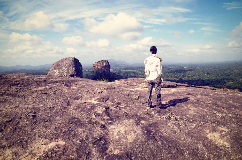 The view of Sigiriya from the top of Pidurangula.