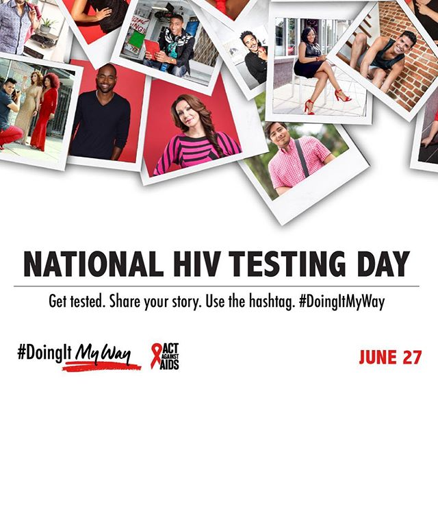 Have you heard about #DoingItMyWay? 😍 It's about sharing why HIV testing is important to you, the things that motivate you to get tested and stay healthy, and how you get tested. 🌈 Show us how you're #DoingItMyWay this National #HIVTestingDay @cdcgov @actagainstaids . Come meet us in Edgewater at @tpanchicago with @posaware @frostedpleasure @foreplaychicagostore 😘