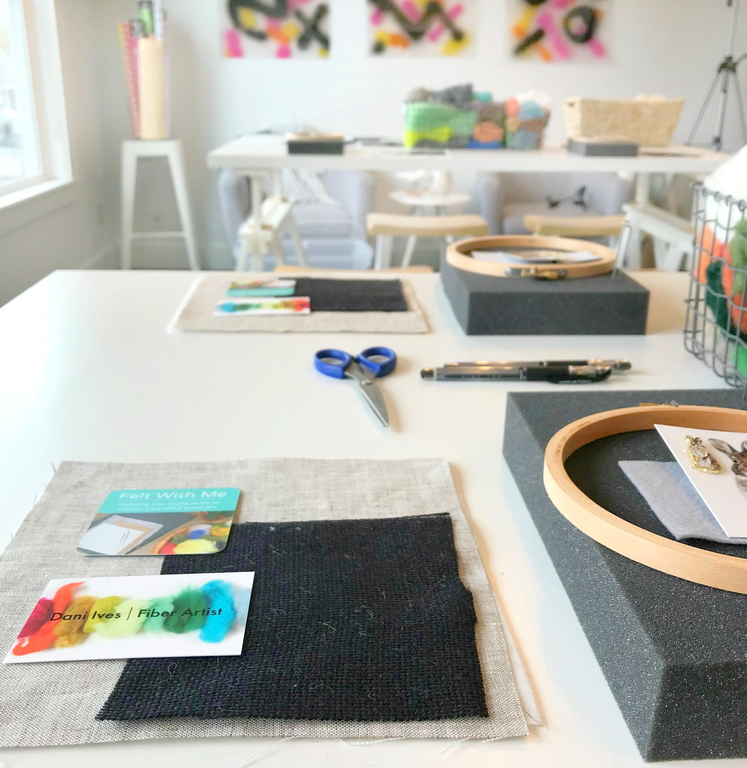 Combo Ticket //Painting With Wool Workshop AND Modern Floral ...
