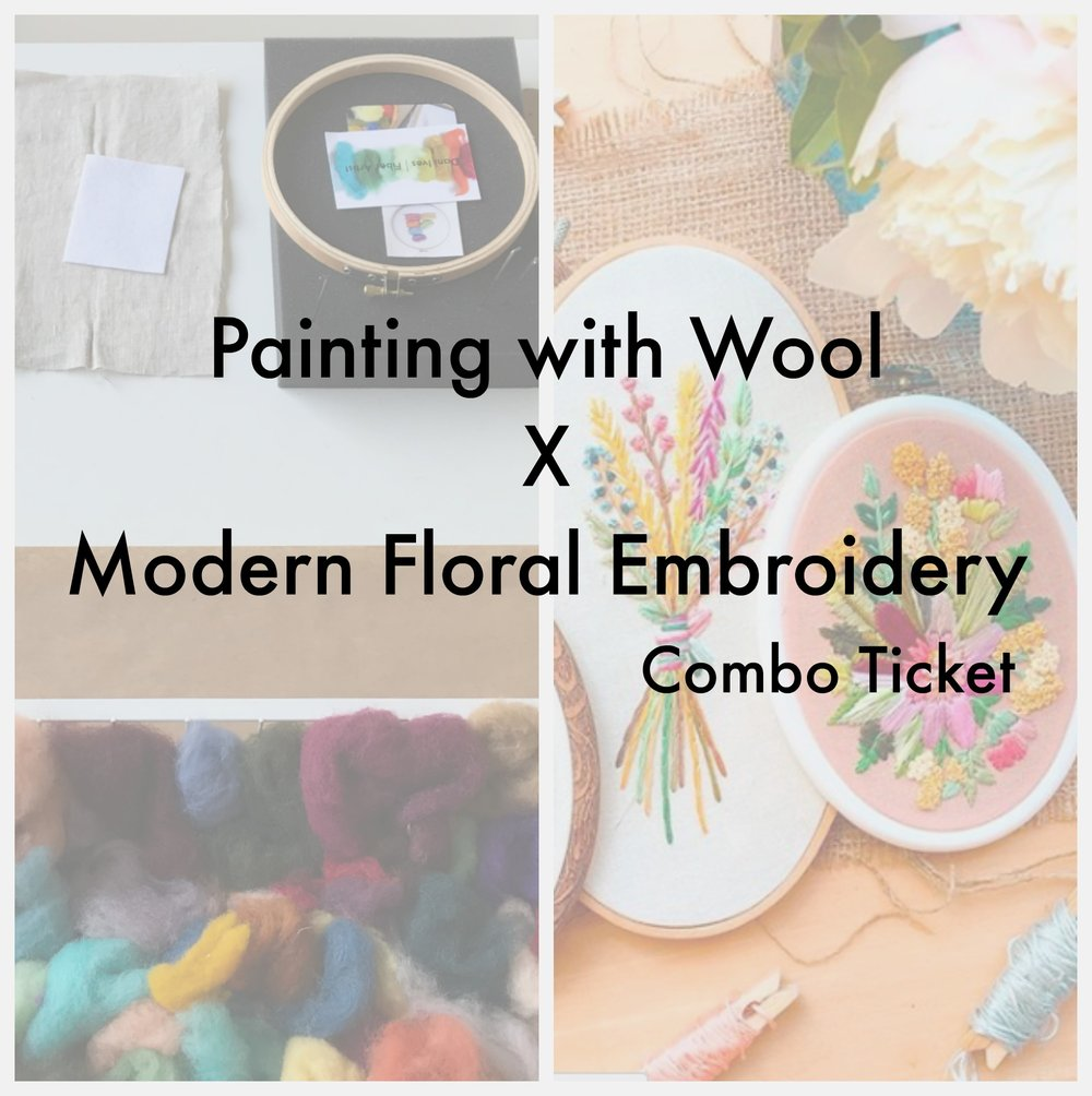 Chicago Combo Embroidery + Felting Workshop - 3 spots left