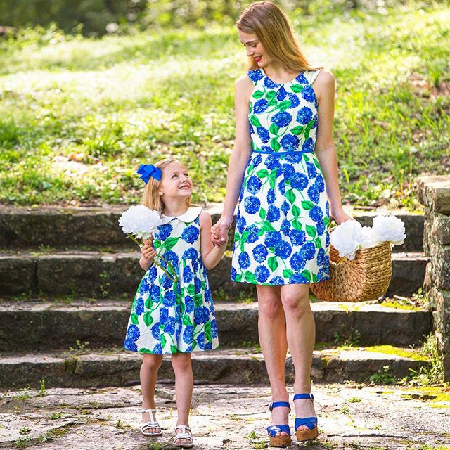Our exclusive, limited-edition hydrangea print dress for @southernlivingmag is here!!! Hydrangeas don't last long, and neither will this dress - get it while you can! To celebrate the premiere, we're offering code SOUTHERNCHARM for 15% off (expires tomorrow at midnight).