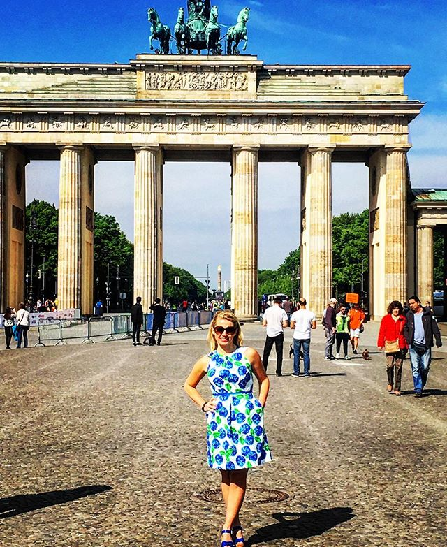 Happy to see our hydrangea dress in bloom in Berlin! 🌎#youcantakethegirloutofthesouth #butyoucanttakethesouthoutofthegirl