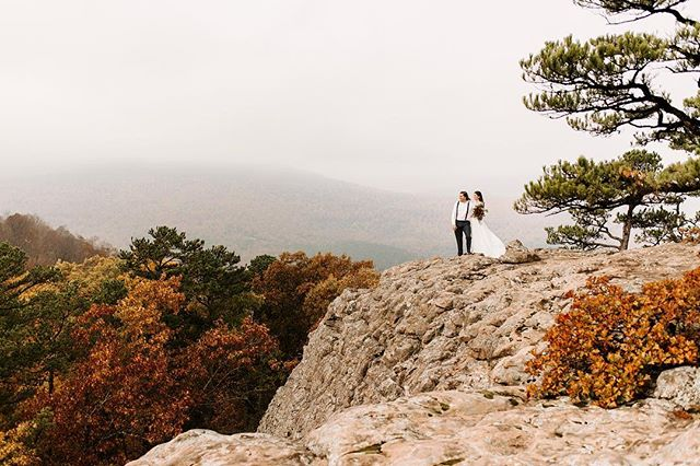 Post #2 of the day because it's the first day of fall. Sadly, I won't be here to witness the beautiful fall colors Arkansas has to offer, so I'm dreaming of this elopement last year.