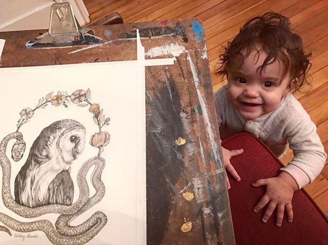 #littlehelpers #illustration #drawing #owls #momsaretired #keepmaking