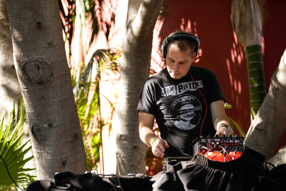Shepard Fairey DJing at our LA Carnival in 2017