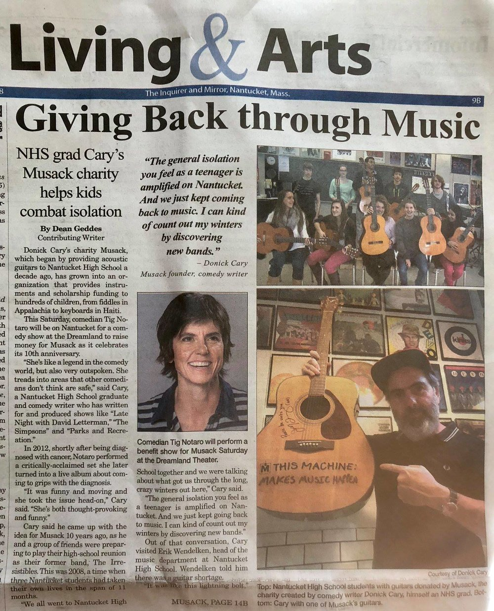 Nantucket's Inquirer & Mirror feature on our first Dreamland event.