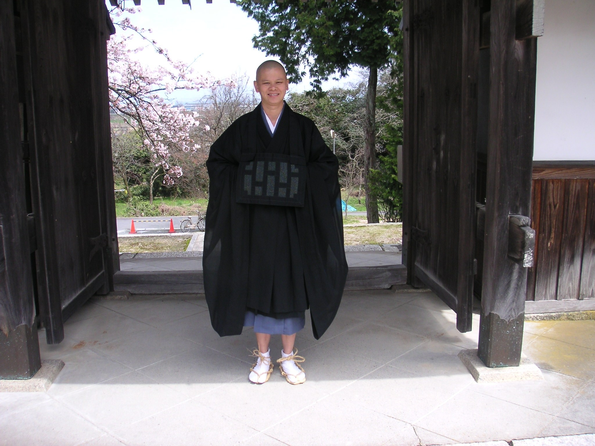 Asking to enter Hoshinji, Sekkei Harada Roshi's monastery. Obama, Japan