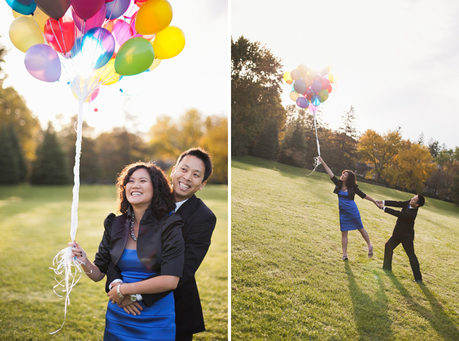 Up Balloons Engagement Photos