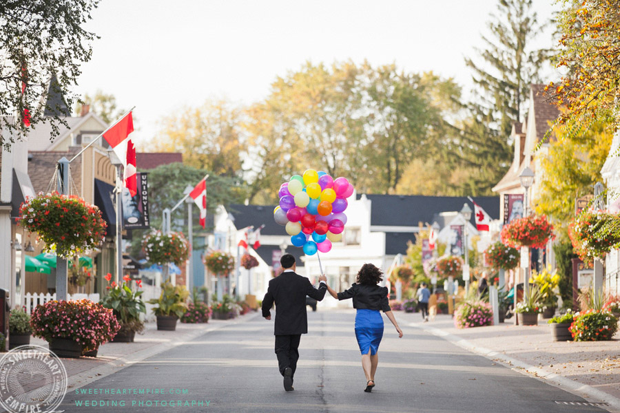 Main Street Unionville Engagement Photos