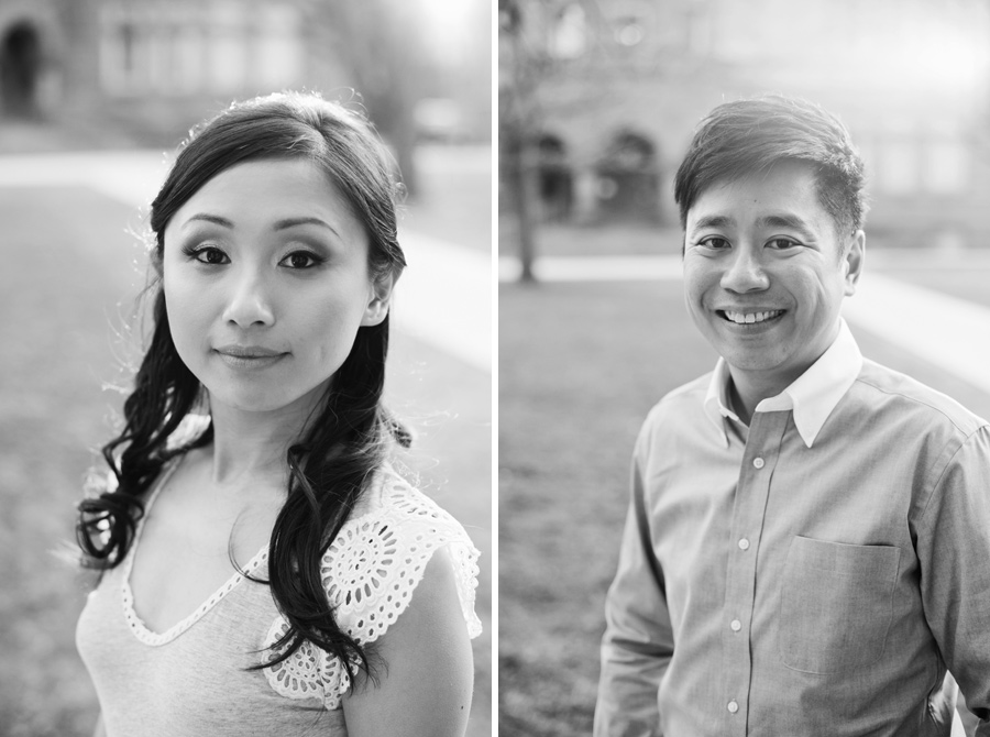 University of Toronto Engagement Black and White Photography