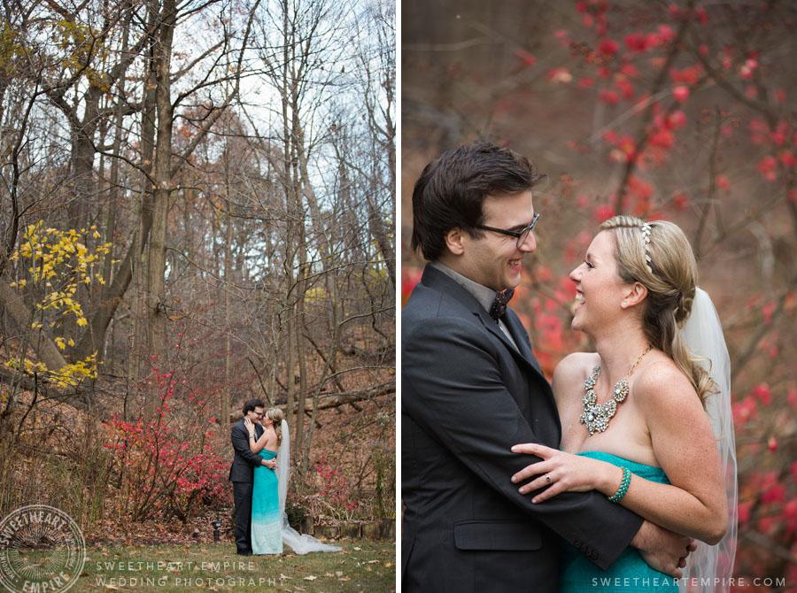 Blue wedding dress fall