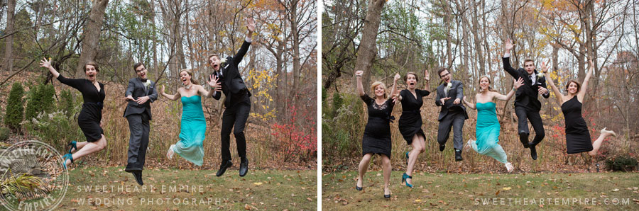 Wedding Party Jump Pictures