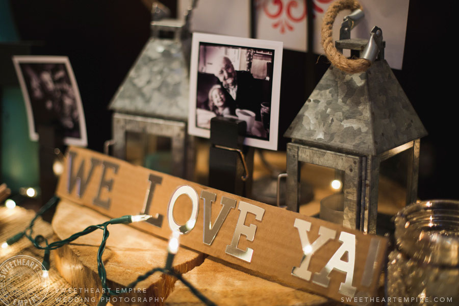 vintage DIY wedding decor