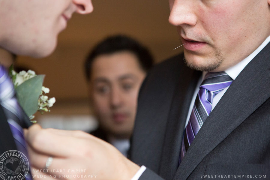 pinning boutonnieres