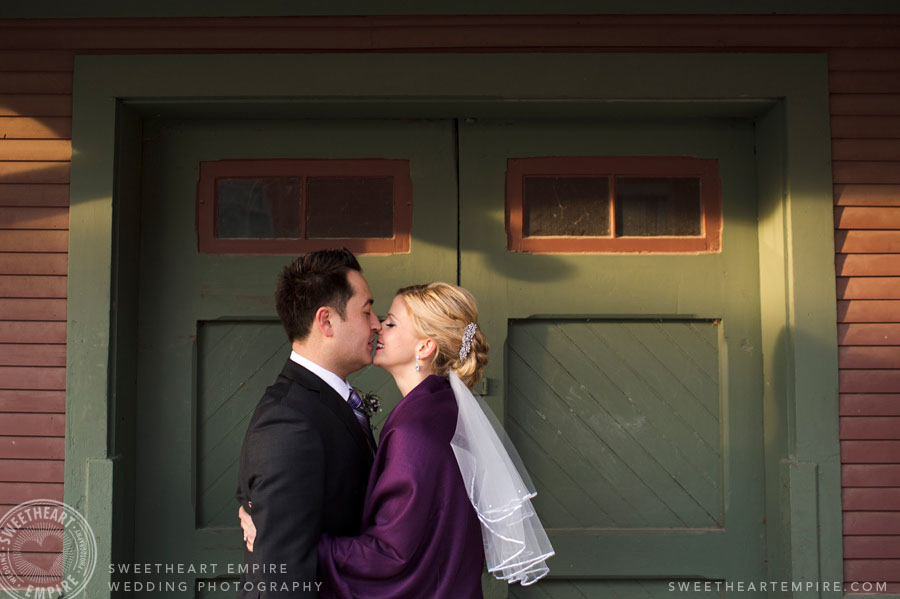Kleinburg railroad wedding photos