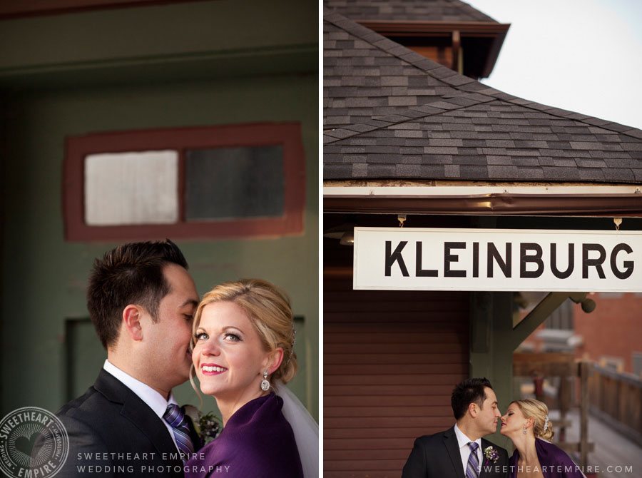 Kleinburg railway station wedding photos