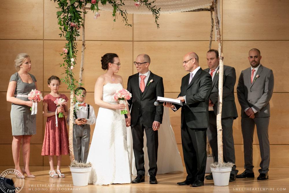 Wedding ceremony; Toronto Reference Library Wedding