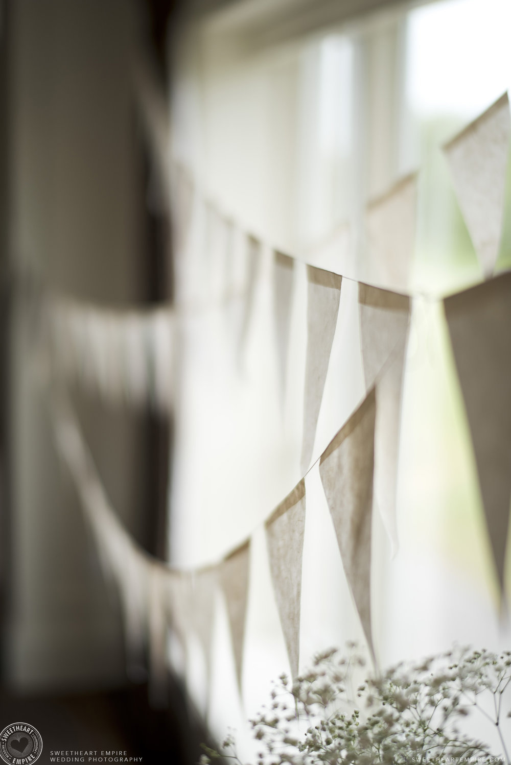 Wedding bunting at the Oakville Golf Club.jpg