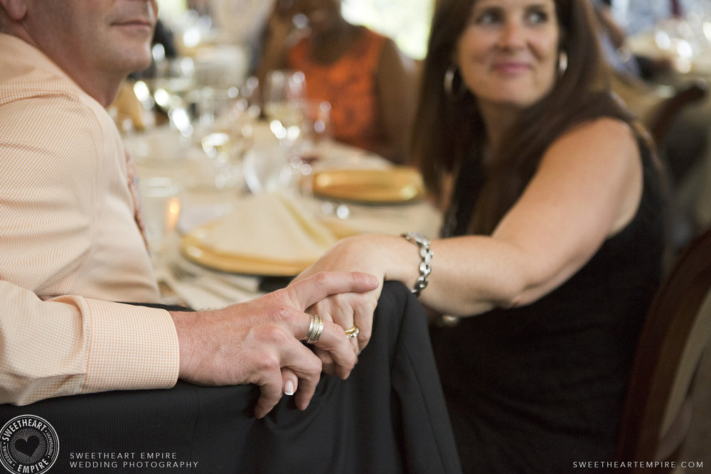 Wedding guests holding hands, Oakville Golf Club Wedding