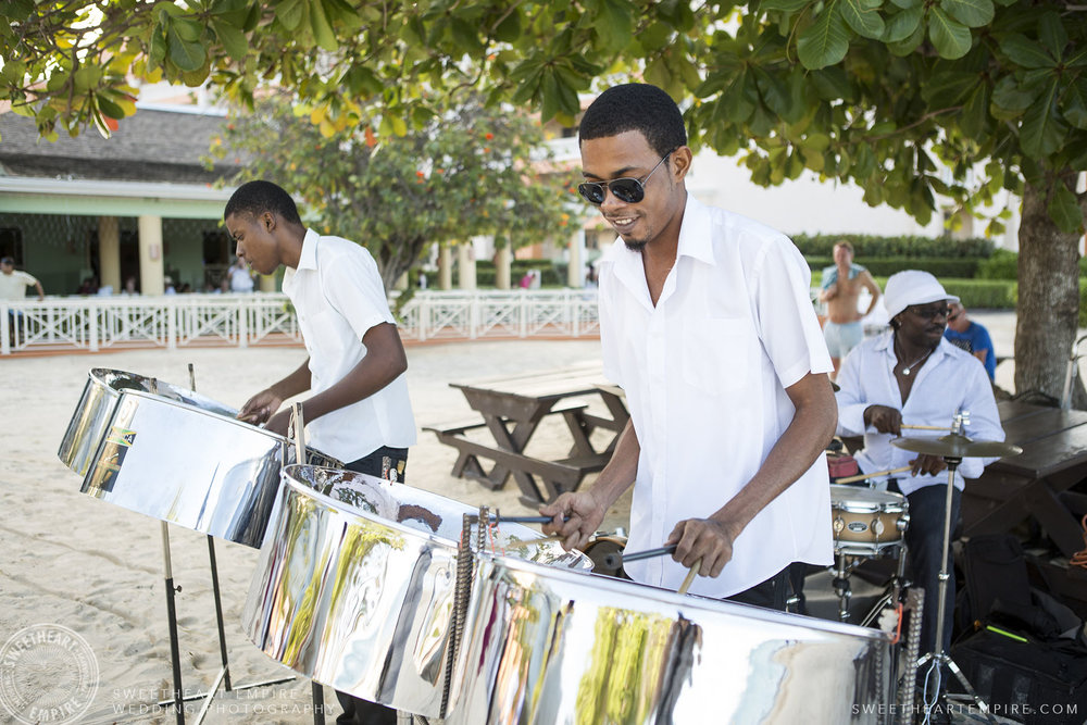 Wedding band playing music; Iberostar Grand Hotel Rose Hall, in Montego Bay, Jamaica