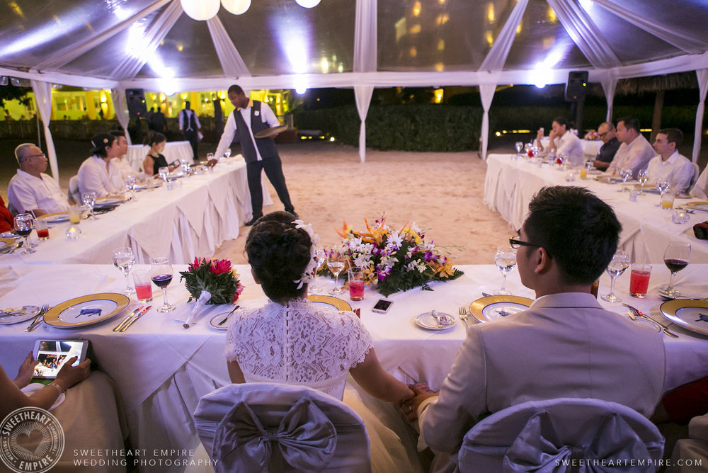 Wedding reception at Iberostar Grand Hotel Rose Hall, in Montego Bay, Jamaica