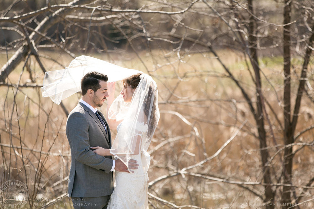 Outdoor photo of bride and groom at Eagles Nest Golf Club Wedding Photos