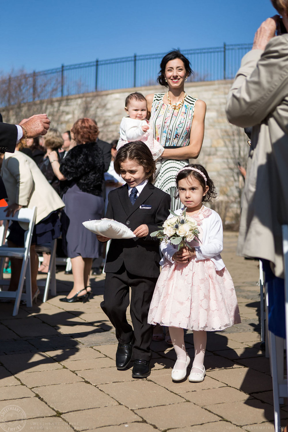 19_cutest flowergirl and ring bearer at Eagles Nest Wedding.jpg