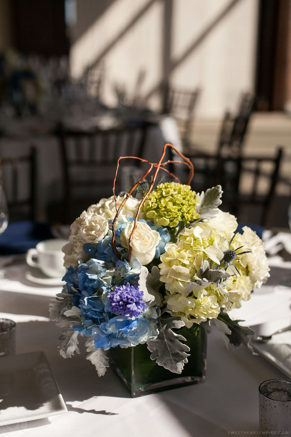 Wedding reception centerpieces, Eagles Nest Golf Club Wedding