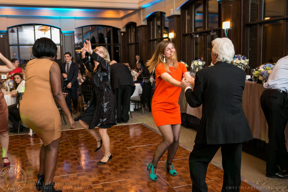 Guests dancing; Eagles Nest Golf Club Wedding