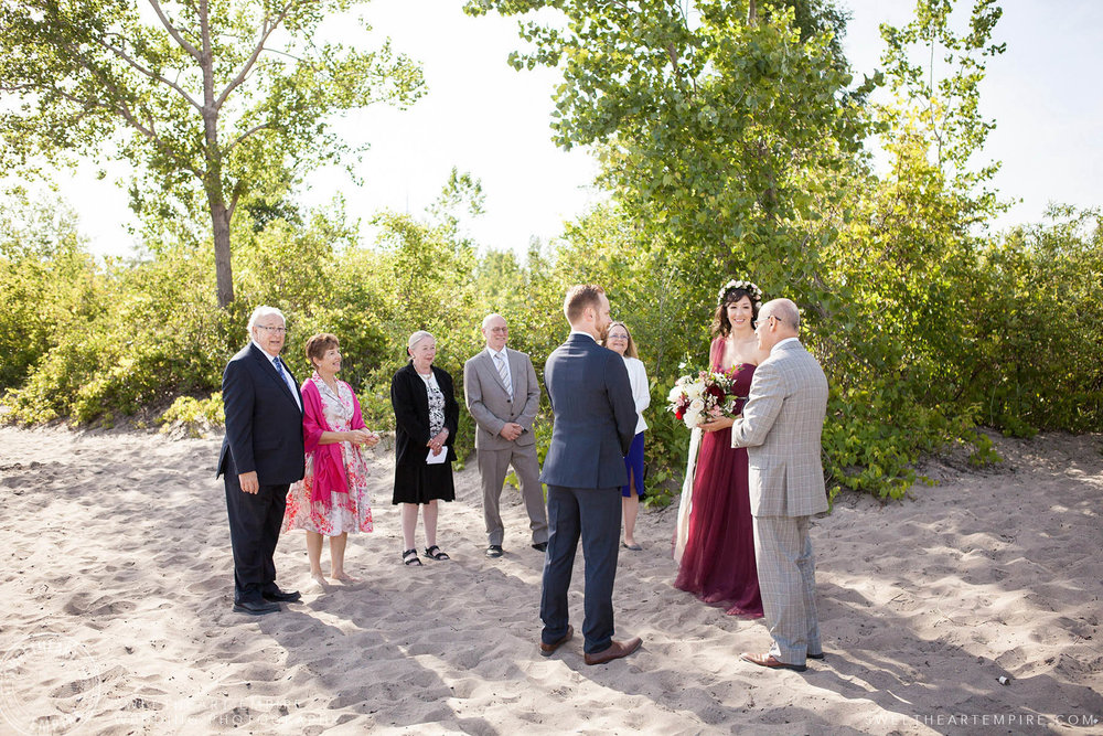 Wedding ceremony, Toronto Island Elopement