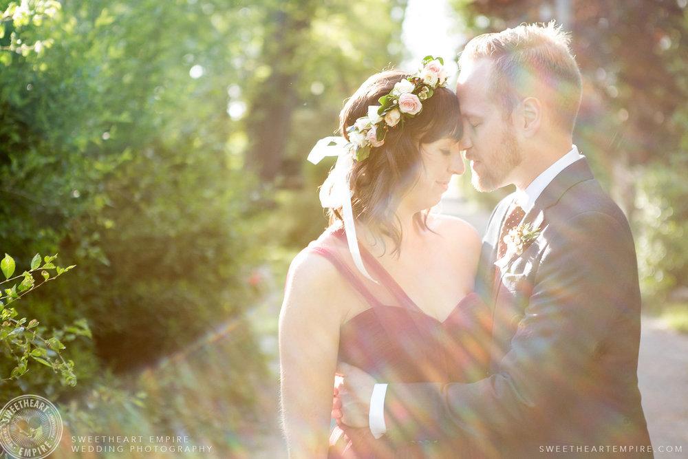 Bride and groom, Toronto Island Elopement