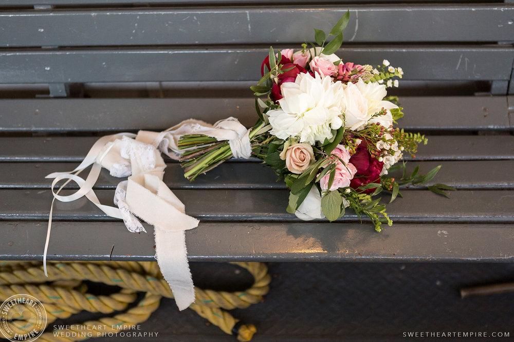 Bride's bouquet, Toronto Island Elopement