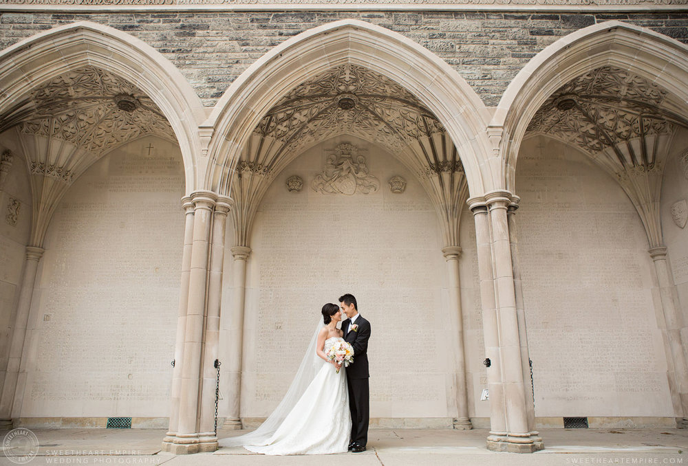 Bride and groom, Hart House University of Toronto Wedding