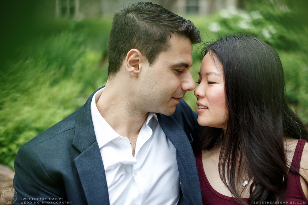 An intimate moment, McMaster University Engagement Session