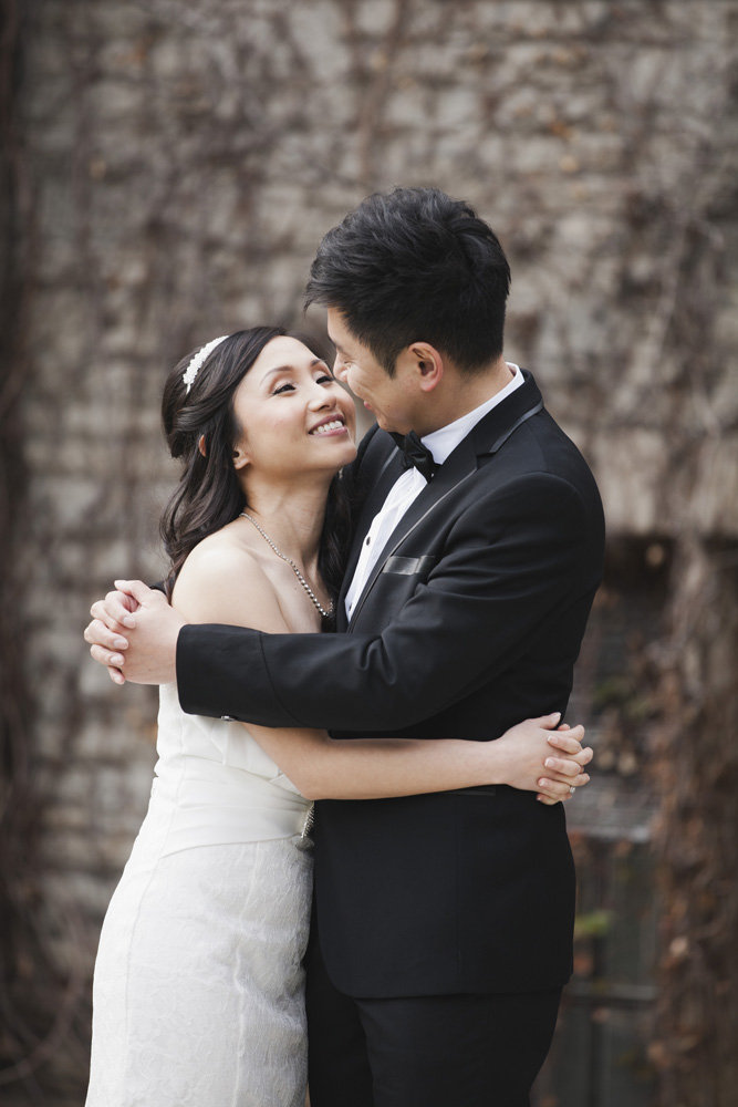 Bride and groom share a loving look, Bayview Golf & Country Club Wedding