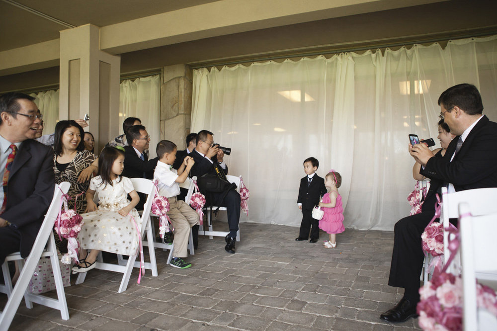 Flower girl & ring bearer walking down the aisle, Bayview Golf & Country Club Wedding