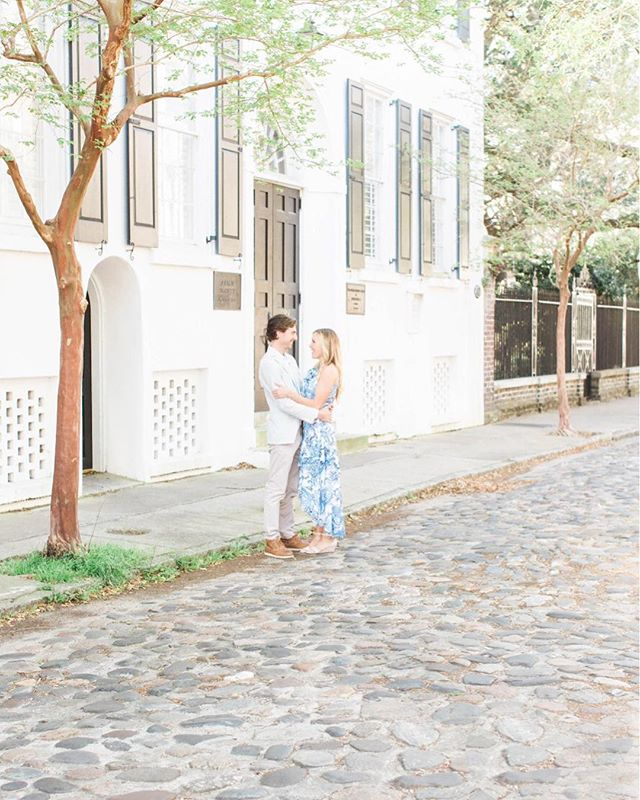 Megan & Andrew's anniversary session in downtown Charleston couldn't have been more beautiful between the location and how head over heels these two are for each other. Side note - Megan killed it in her heels on the cobblestones.