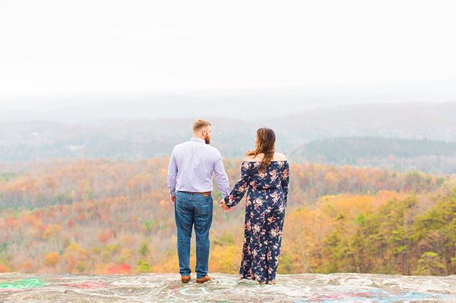 On the way up the mountain we found out via time hop that Leigh & Jeff had visited Bald Rock exactly one year ago. Who knew they would be back in the same spot and day but taking their engagement pictures this time.