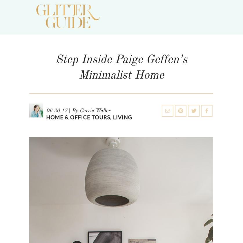 GLITTER GUIDE -