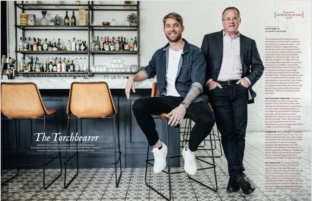 Brett Young and Pete Fisher for Billboard Magazine June 2018 issue